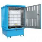 Gefahrstoff-Lager für IBC-Container