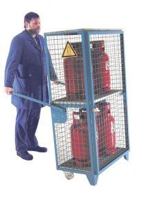 Mobiles Gasflaschen-Depot GFD-R-4 für 4 11kg-Gasflaschen