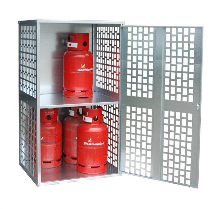 Gasflaschen-Schrank / Depot GFD-L-1 für 10 11kg-Gasflaschen (belüftet)