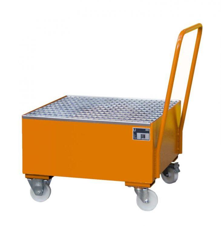 Fahrbare Stahl Auffangwanne S-2004 - ideal für den manuellen Transport