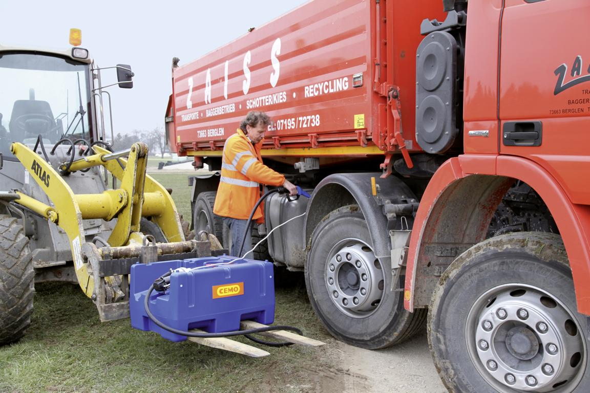 Cemo Blue-Mobil Easy bei der Anwendung
