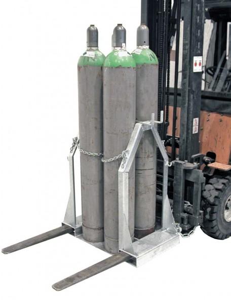 Gasflaschen-Palette für Stahlgasflaschen SFP-4 f. Stapler