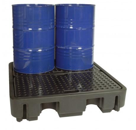 PE-Auffangwanne 240/4 für max. 4 x 200 Liter Fässer