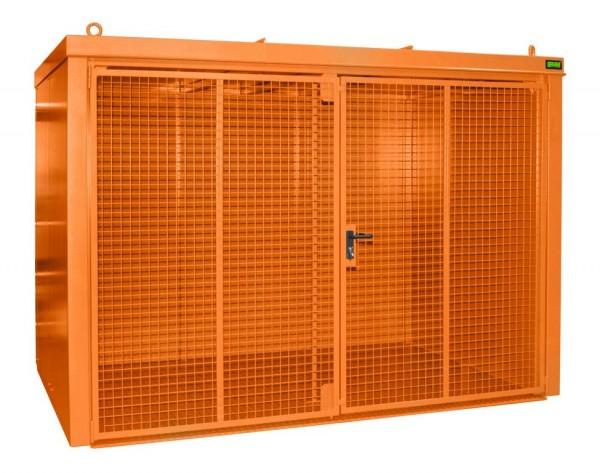 Gasflaschen-Container Typ GFC-B-M4 - gelborange RAL 2000