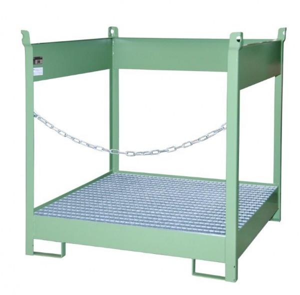 Fass-Stapelpalette Typ FSP-4 für 4 x 200-l-Fässer