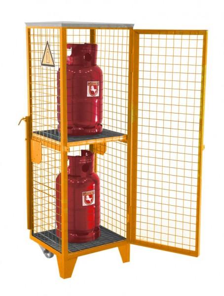 Gasflaschen-Depot GFD-R-2 - gelborange RAL 2000