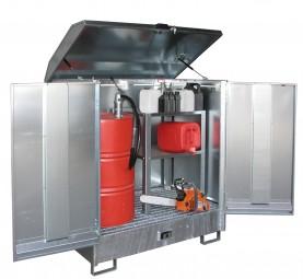 Gefahrstoff-Depot GD-N-2 für 2 x 200-l-Fässer