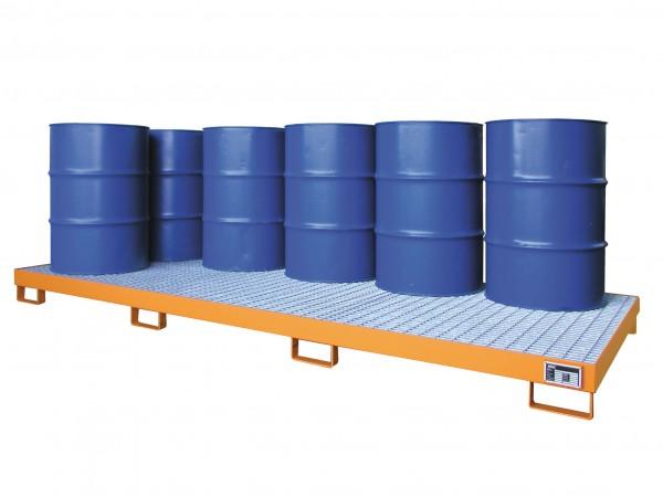 Auffangwanne mit Gitterrost Typ AW-10 für max. 10 200-l-Fässer