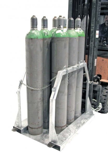 Gasflaschen-Palette für Stahlgasflaschen SFP-8 f. Stapler