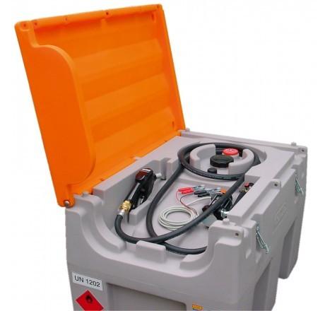 DT-Mobil Easy 460-Liter mit Elektropumpe 12 V, Automatik-Zapfpistole und Klappdeckel