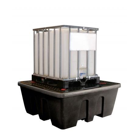 IBC-Auffangwanne aus PE 1200 Liter mit PE-Lochplatte