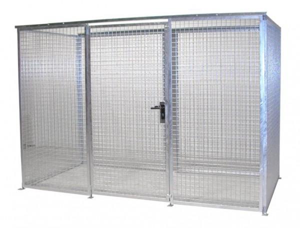 Gasflaschen-Container GFC-M-4 ohne Dach für max. 78 Gasflaschen