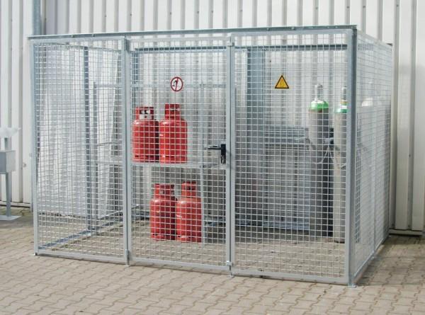 Gasflaschen-Container GFC-M-5 ohne Dach für max. 104 Gasflaschen