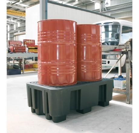 PE-Auffangwanne 240/2 für max. 2 x 200 Liter Fässer