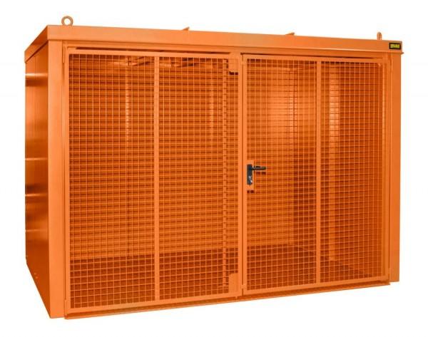 Gasflaschen-Container Typ GFC-B-M5 - gelborange RAL 2000