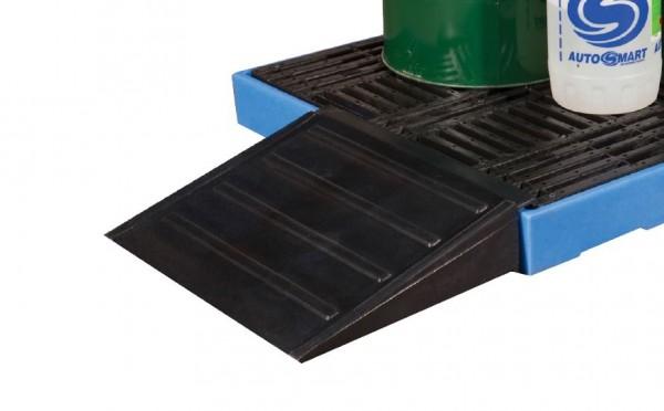 Auffahrrampe für PE-Bodenschutzwanne