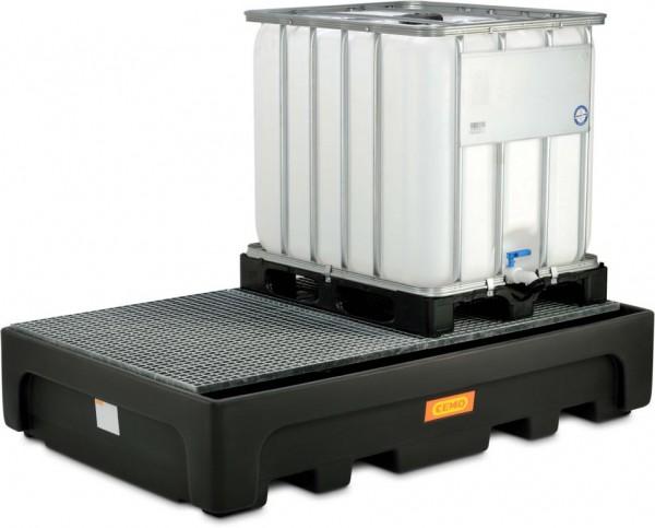 IBC-Auffangwanne aus PE mit Stahlgitterrost für 2 Stück 1000-Liter-IBC