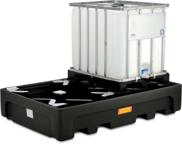 IBC-Auffangwanne aus PE für 2 Stück 1000-Liter-IBC