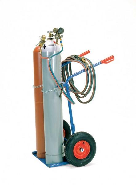 Fetra Gasflaschenwagen für 2 Stahlflaschen Ø 204-229 mm