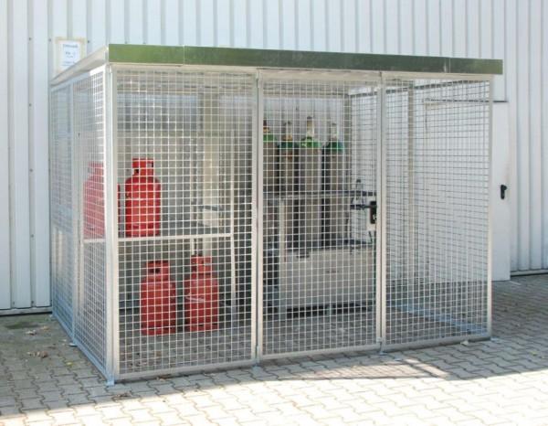 Gasflaschen-Container Typ GFC-M-5-D mit Dach für max. 104 Gasflaschen
