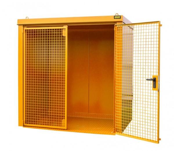 Gasflaschen-Container Typ GFC-B-M2 - gelborange RAL 2000