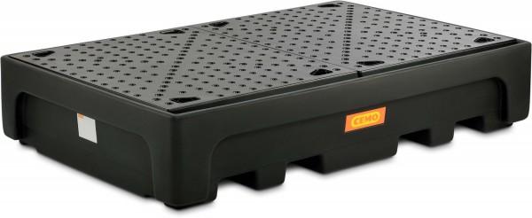 IBC-Auffangwanne aus PE mit PE-Auflagerost für 2 Stück 1000-Liter-IBC
