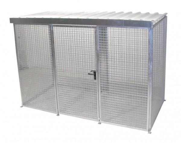 Gasflaschen-Container Typ GFC-M-4-D mit Dach für max. 78 Gasflaschen