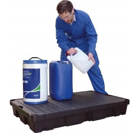 PE-Laborwanne 100-Liter mit PE-Rost