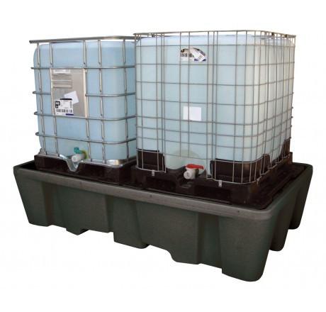 IBC-Auffangwanne aus PE 1100 Liter mit PE-Lochplatten
