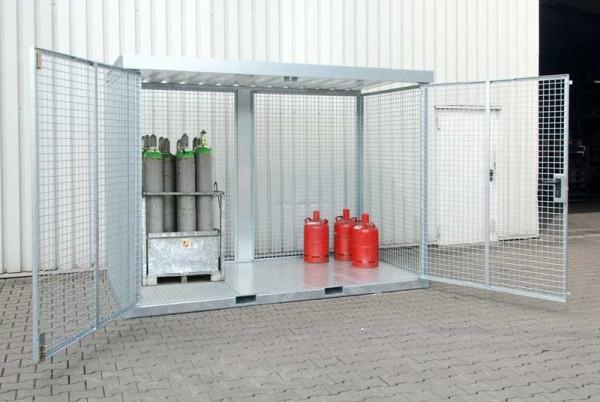 Gasflaschen-Container Typ GFC-E - komplett montiert geliefert
