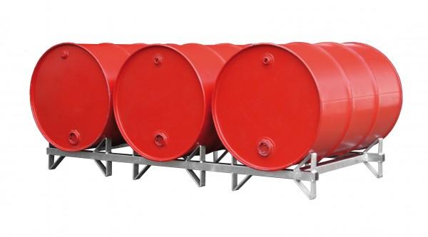 Fasspalette Typ FP-3 für 3 x 200-l-Fässer