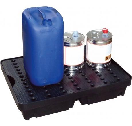PE-Laborwanne 40-Liter mit PE-Rost