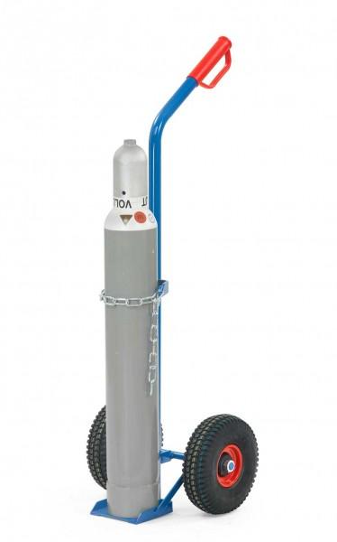 Fetra Gasflaschenwagen für 1 Stahlflasche 10 Liter Ø 140 mm